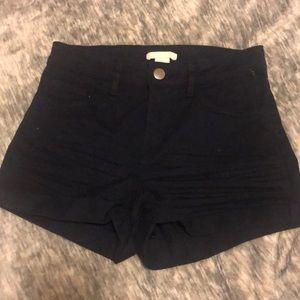 Navy Blue Jean Shorts
